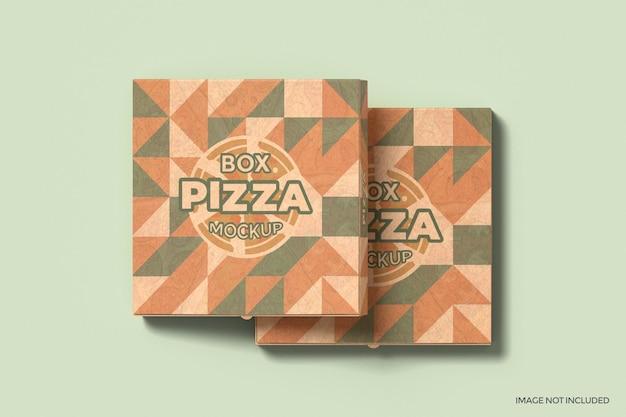 Mockup di confezione di scatole per pizza