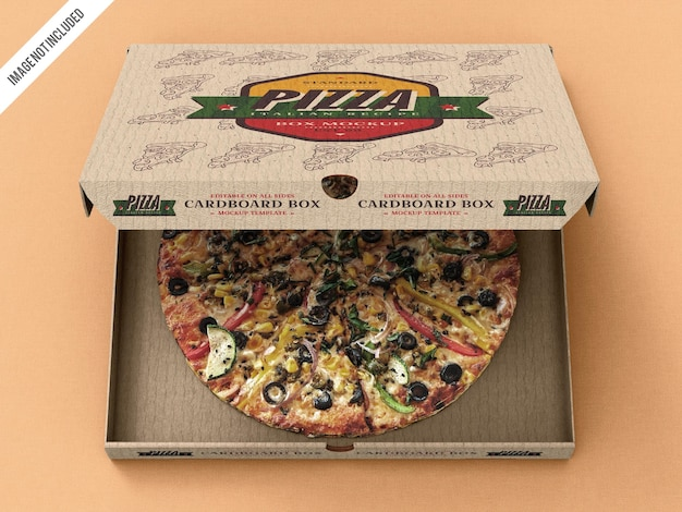Mockup di scatola di consegna pizza