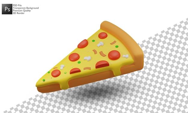 Pizza illustrazione 3d design