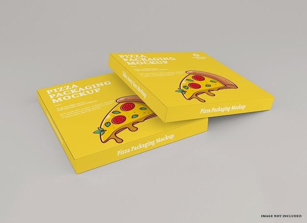 Design del mockup del pacchetto pizza
