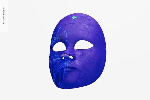 Mockup di maschera a pieno facciale veneziana semplice
