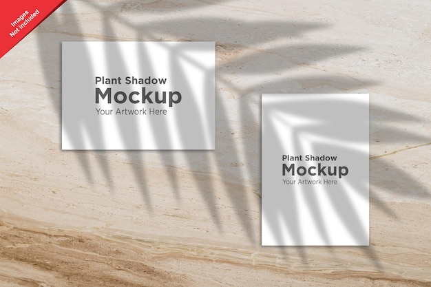Pianta shadow over sheet mockup design