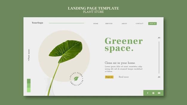 Pagina di destinazione del negozio di piante