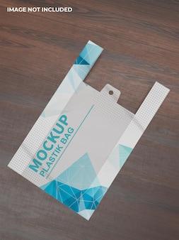 Modello di sacchetto di plastica