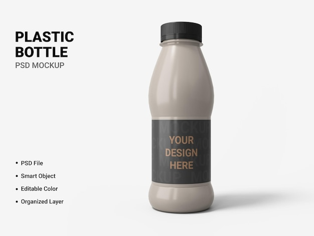 Bottiglia di plastica mockup design isolato