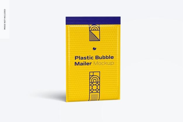 Mockup del bollettino di plastica della bolla