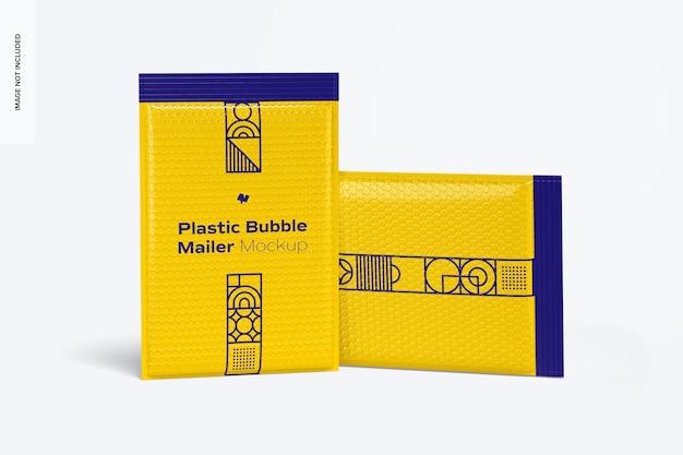 Mockup di bollettini a bolle di plastica