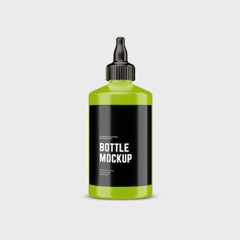 Bottiglia cosmetica in plastica mockup design