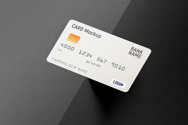 Mockup di carta di credito in plastica