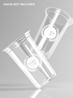 Modello di tazza di plastica plastic