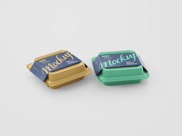 Mockup di contenitore per alimenti in plastica