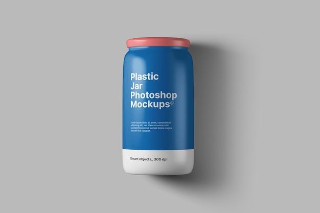 Mockup di barattolo di plastica