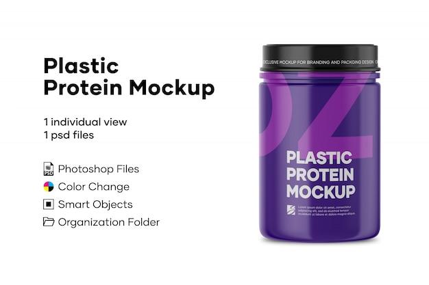 Mockup di proteine in plastica