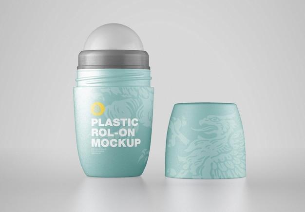 Mockup cosmetico rollon in plastica