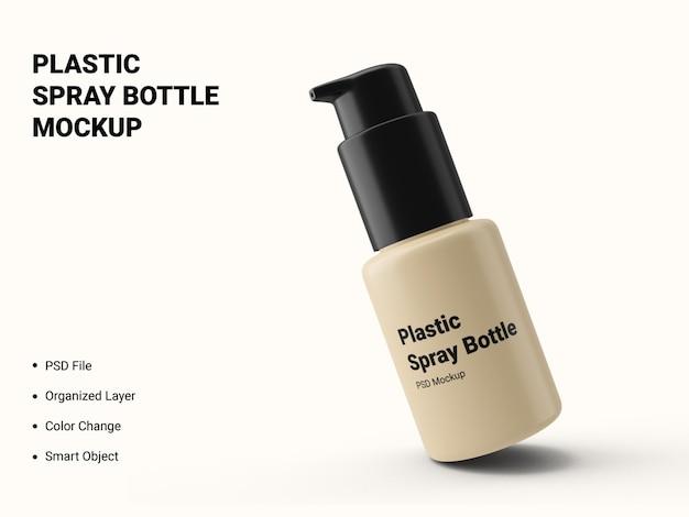 Bottiglia di plastica spray mockup