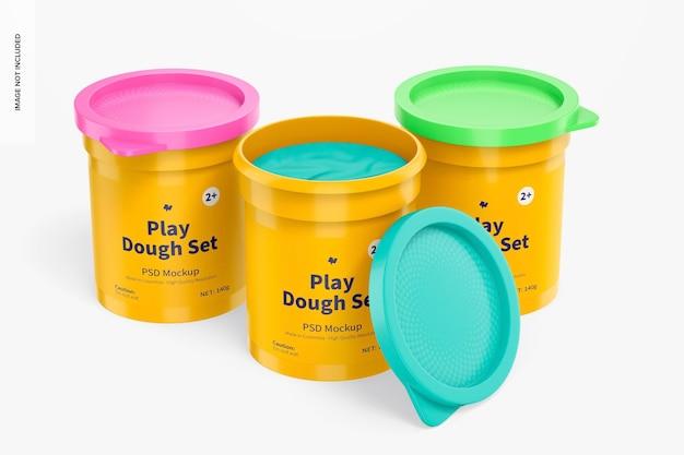 Play dough set mockup