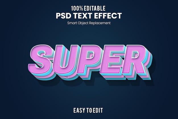 Rendering di effetti di testo 3d giocoso e divertente