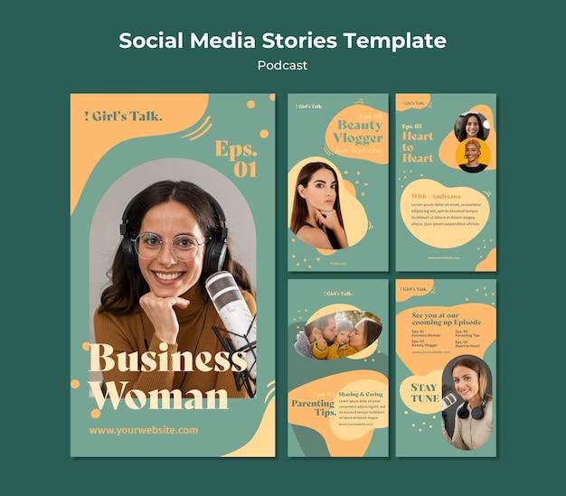 Podcast storie sui social media