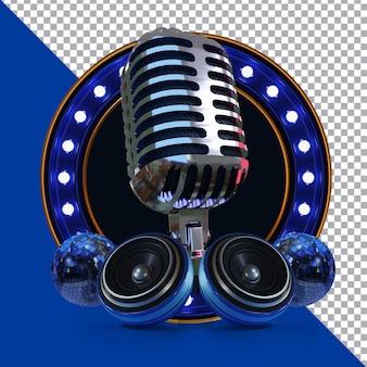 Podcast talkshow 3d rendering composizione isolata