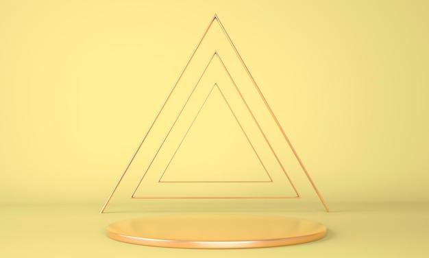 Presentazione del design del podio in rendering 3d