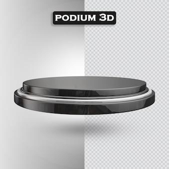 Icona del podio 3d render moderno
