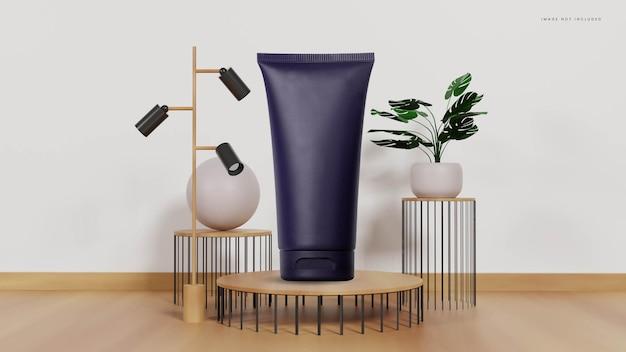 Interno del podio con oro e piante tropicali