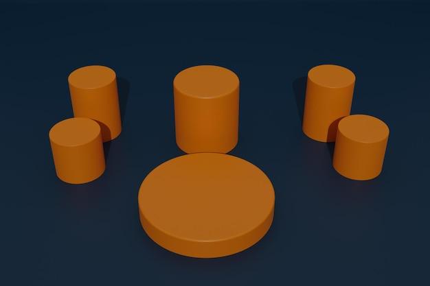Sfondo di visualizzazione del prodotto sul podio