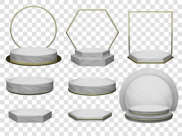 Mockup modello podio in molti stili per la visualizzazione di cosmetici