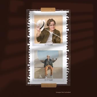 Polaroid con moodboard in poly cover