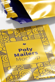 Poly mailers mockup