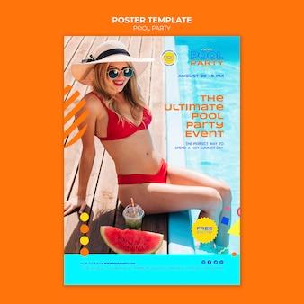 Modello di stampa per feste in piscina