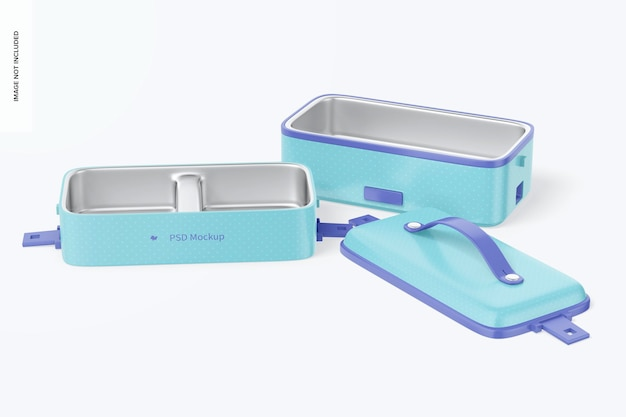 Mockup di scatole da pranzo elettriche portatili