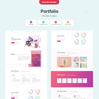 Modello di sito web del portfolio