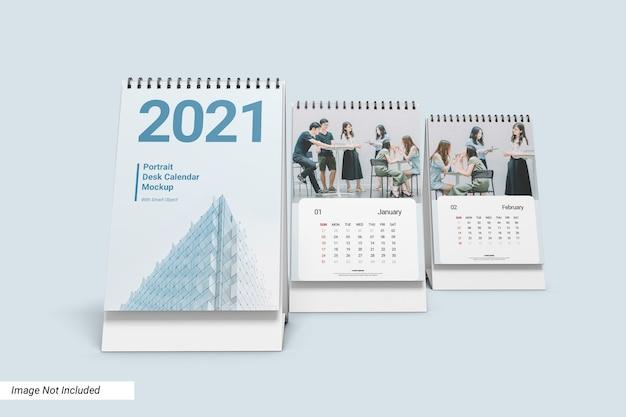 Mockup del calendario da tavolo verticale