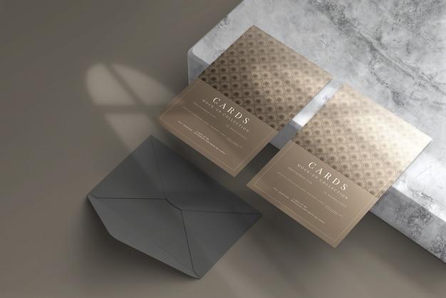 Cartolina o biglietto d'invito mockup