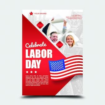 Poster festa del lavoro internazionale del 3 settembre usa