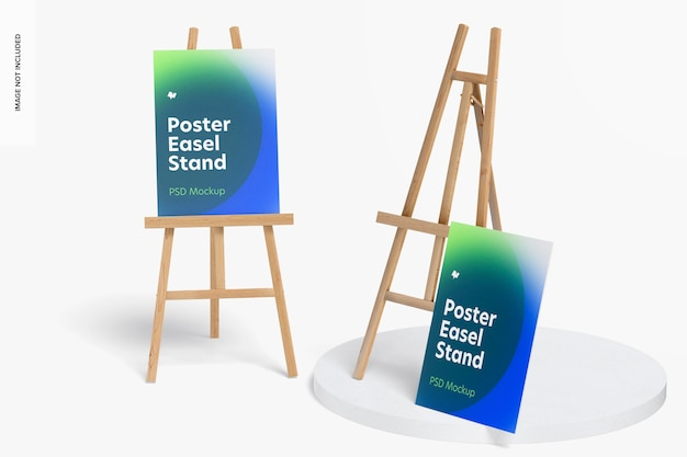 Poster cavalletto stand mockup