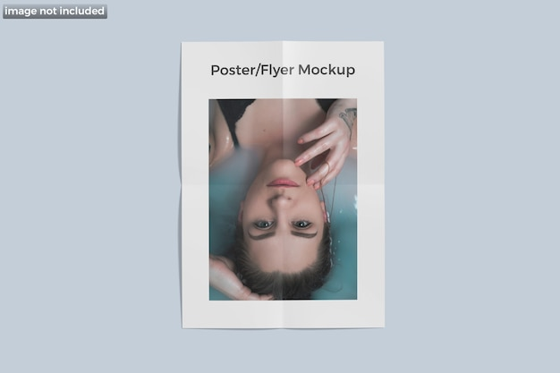 Poster flyer mockup isolato isolato