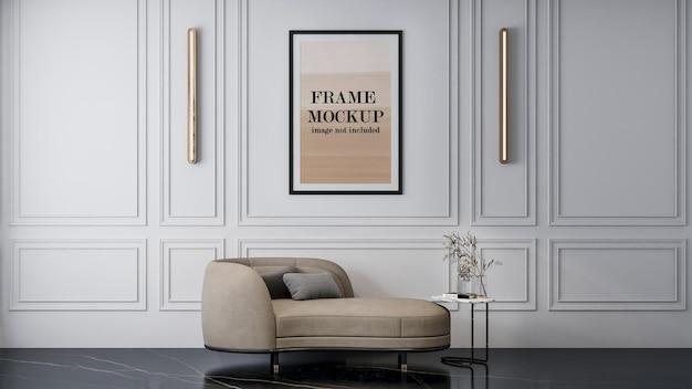 Design mockup cornice poster