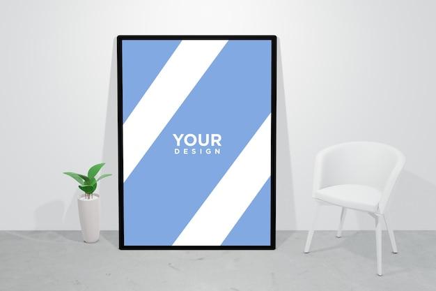 Poster frame wall mockup design