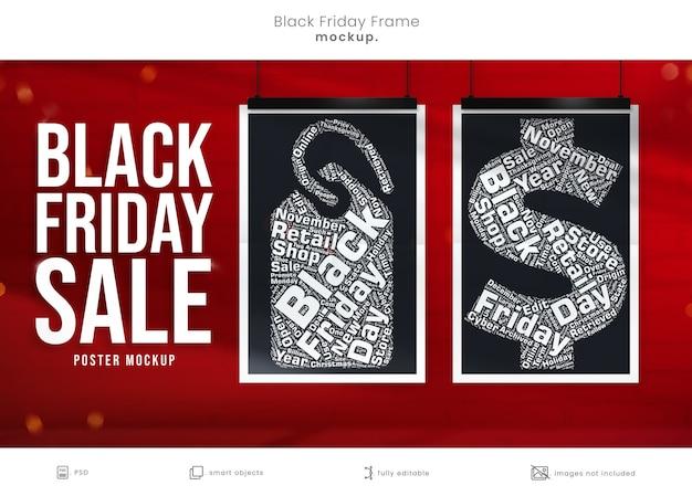 Mockup di poster per la campagna di marketing del venerdì nero