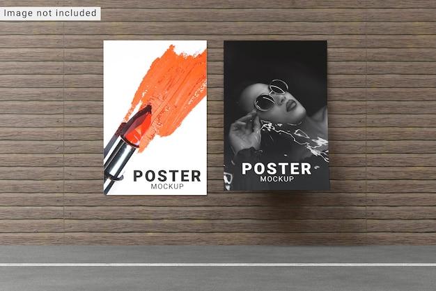 Poster mockup vista frontale