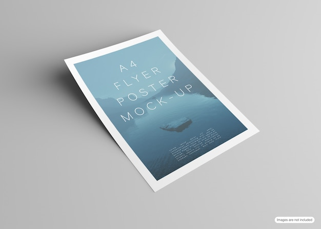 Poster mockup isolato su grigio
