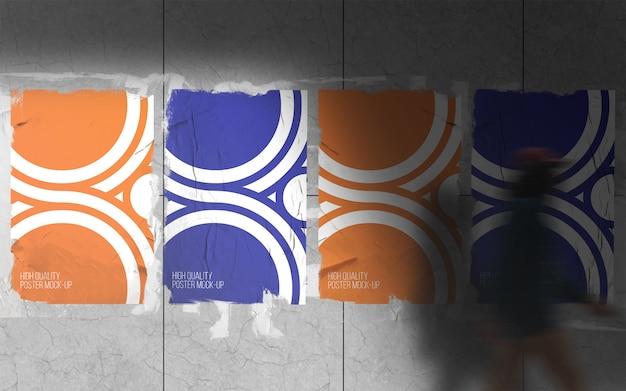Stampa poster su mockup da parete