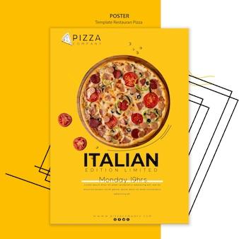 Modello di poster per ristorante pizzeria