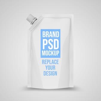 Pouch 3d rendering mockup design