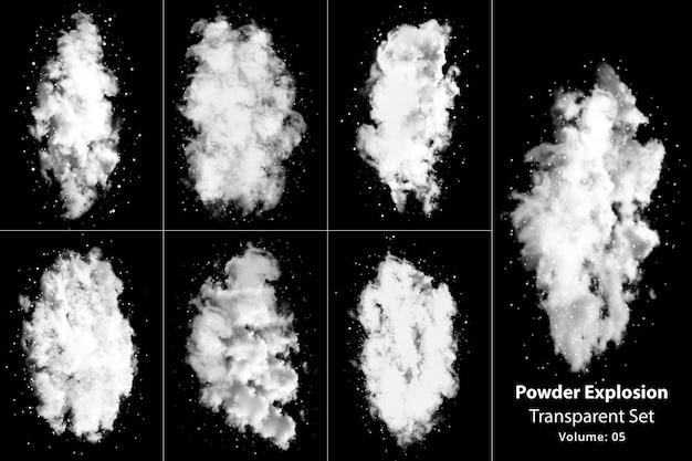 Set trasparente di fumo di esplosione di polvere