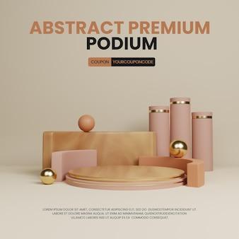 Premium astratto semplice visualizzazione del prodotto del podio