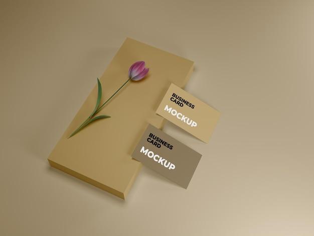 Design di mockup di biglietti da visita premium