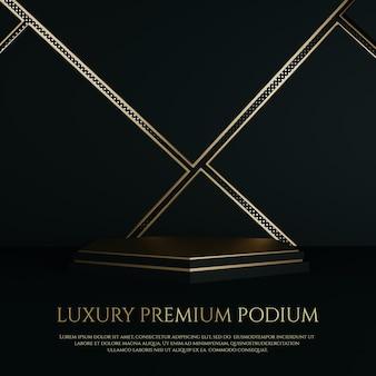 Esposizione del prodotto del podio premium gold luxury ornament